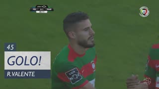 GOLO! Marítimo M., Ricardo Valente aos 45', CD Feirense 0-1 Marítimo M.