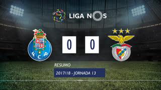 Liga NOS (13ªJ): Resumo FC Porto 0-0 SL Benfica