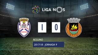Liga NOS (9ªJ): Resumo CD Feirense 1-0 Rio Ave FC