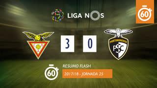 Liga NOS (25ªJ): Resumo Flash CD Aves 3-0 Portimonense
