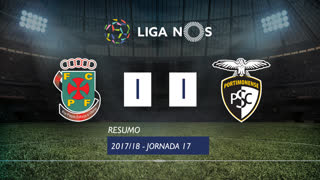 Liga NOS (17ªJ): Resumo FC P.Ferreira 1-1 Portimonense