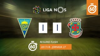 Liga NOS (27ªJ): Resumo Flash Estoril Praia 1-1 FC P.Ferreira