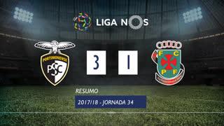 Liga NOS (34ªJ): Resumo Portimonense 3-1 FC P.Ferreira
