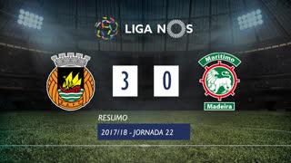Liga NOS (22ªJ): Resumo Rio Ave FC 3-0 Marítimo M.