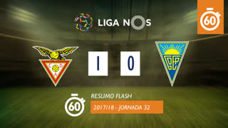Liga NOS (32ªJ): Resumo Flash CD Aves 1-0 Estoril Praia