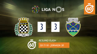 Liga NOS (30ªJ): Resumo Flash Boavista FC 3-3 GD Chaves