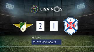 Liga NOS (27ªJ): Resumo Moreirense FC 2-1 Belenenses