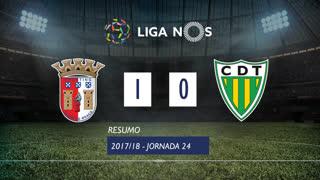 Liga NOS (24ªJ): Resumo SC Braga 1-0 CD Tondela