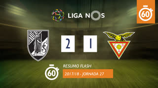 Liga NOS (27ªJ): Resumo Flash Vitória SC 2-1 CD Aves