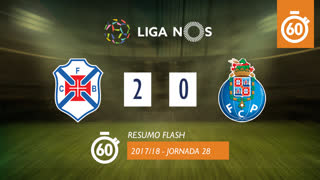Liga NOS (28ªJ): Resumo Flash Belenenses SAD 2-0 FC Porto