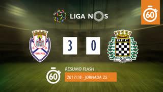 Liga NOS (25ªJ): Resumo Flash CD Feirense 3-0 Boavista FC