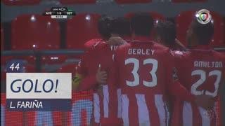 GOLO! CD Aves, L. Fariña aos 44', CD Aves 1-0 Vitória FC