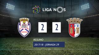 Liga NOS (29ªJ): Resumo CD Feirense 2-2 SC Braga