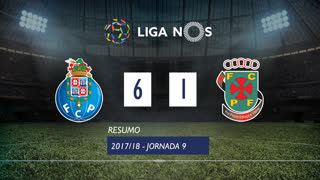 I Liga (9ªJ): Resumo FC Porto 6-1 FC P.Ferreira