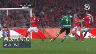 Sporting CP, Jogada, M. Acuña aos 28'
