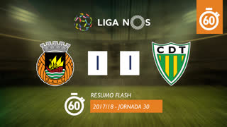 Liga NOS (30ªJ): Resumo Flash Rio Ave FC 1-1 CD Tondela
