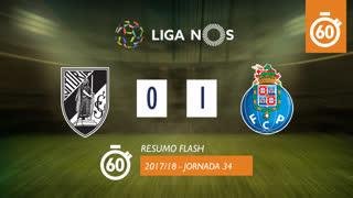 Liga NOS (34ªJ): Resumo Flash Vitória SC 0-1 FC Porto