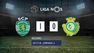 Liga NOS (2ªJ): Resumo Sporting CP 1-0 Vitória FC