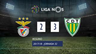 Liga NOS (32ªJ): Resumo SL Benfica 2-3 CD Tondela