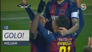 GOLO! GD Chaves, William aos 10', GD Chaves 1-0 Vitória FC