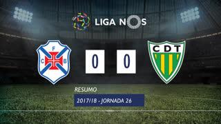 Liga NOS (26ªJ): Resumo Belenenses 0-0 CD Tondela