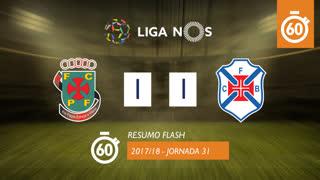 Liga NOS (31ªJ): Resumo Flash FC P.Ferreira 1-1 Os Belenenses
