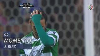 Sporting CP, Jogada, B. Ruiz aos 65'