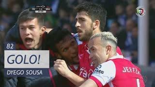 GOLO! SC Braga, Dyego Sousa aos 82', CD Feirense 1-2 SC Braga