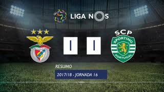 Liga NOS (16ªJ): Resumo SL Benfica 1-1 Sporting CP