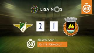 Liga NOS (31ªJ): Resumo Flash Moreirense FC 2-1 Rio Ave FC