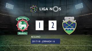 Liga NOS (16ªJ): Resumo Marítimo M. 1-2 GD Chaves