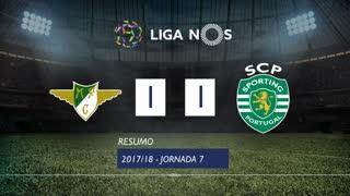 Liga NOS (7ªJ): Resumo Moreirense FC 1-1 Sporting CP