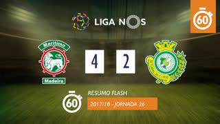 Liga NOS (26ªJ): Resumo Flash Marítimo M. 4-2 Vitória FC