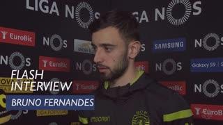 Liga (30ª): Flash interview Bruno Fernandes