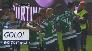 GOLO! Sporting CP, Bas Dost aos 90'+8', CD Feirense 2-3 Sporting CP