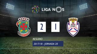Liga NOS (20ªJ): Resumo FC P.Ferreira 2-1 CD Feirense