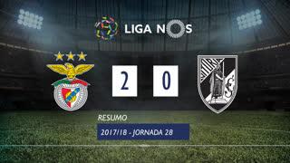 Liga NOS (28ªJ): Resumo SL Benfica 2-0 Vitória SC
