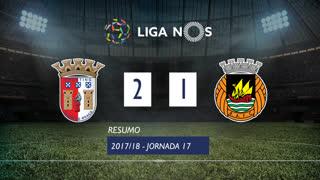Liga NOS (17ªJ): Resumo SC Braga 2-1 Rio Ave FC