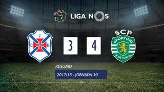 Liga NOS (30ªJ): Resumo Os Belenenses 3-4 Sporting CP