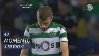 Sporting CP, Jogada, S. Ristovski aos 40'
