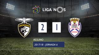Liga NOS (6ªJ): Resumo Portimonense 2-1 CD Feirense