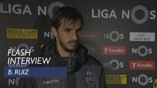 Liga (28ª): Flash interview B. Ruiz