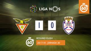 Liga NOS (30ªJ): Resumo Flash CD Aves 1-0 CD Feirense