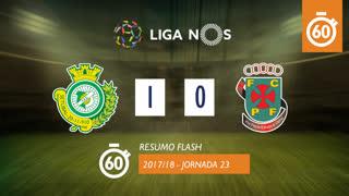 Liga NOS (23ªJ): Resumo Flash Vitória FC 1-0 FC P.Ferreira