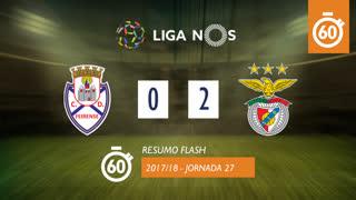 Liga NOS (27ªJ): Resumo Flash CD Feirense 0-2 SL Benfica
