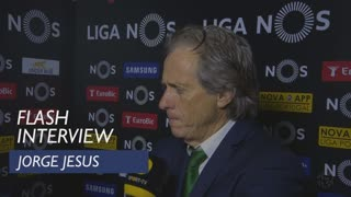 Liga (29ª): Flash interview Jorge Jesus