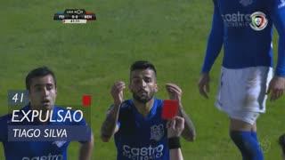 CD Feirense, Expulsão, Tiago Silva aos 41'