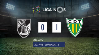 Liga NOS (16ªJ): Resumo Vitória SC 0-1 CD Tondela