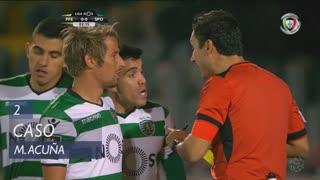 Sporting CP, Caso, M. Acuña aos 2'