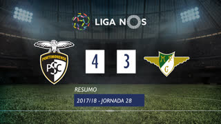 Liga NOS (28ªJ): Resumo Portimonense 4-3 Moreirense FC